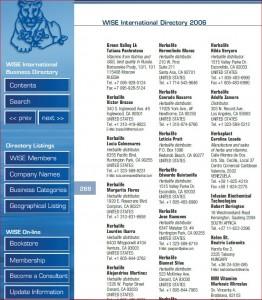 WISE Liste 2006, Auszug Seite 268