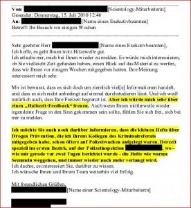 Gelickte E-mail Polizei Ö 1