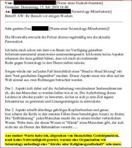 Gelickte E-mail Polizei Ö 2