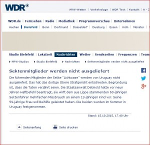 WDR Lichtoase 15.10.2015