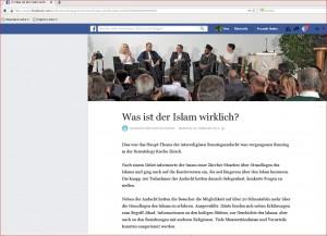 Scien tology Zürich Andacht Intereligiös. Facebookseite JPG