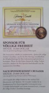 Flyer Werden Sie Sponsor Teil 3 IASA 2011