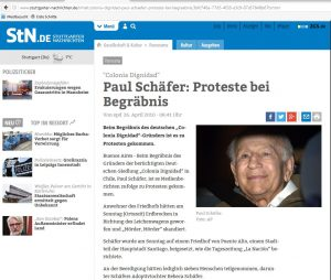 Stuttgarter Zeitung Tod von Paul Schäfer
