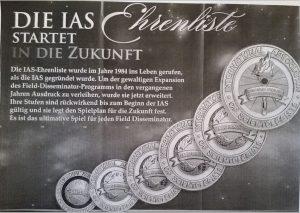 Erweiterung der IAS Ehrenliste