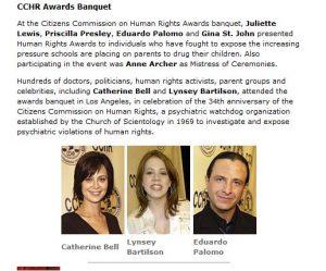 Celebrity Center CCHR Awards Banquet April 2003 Auszug